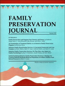 Family Preservation Journal Cover